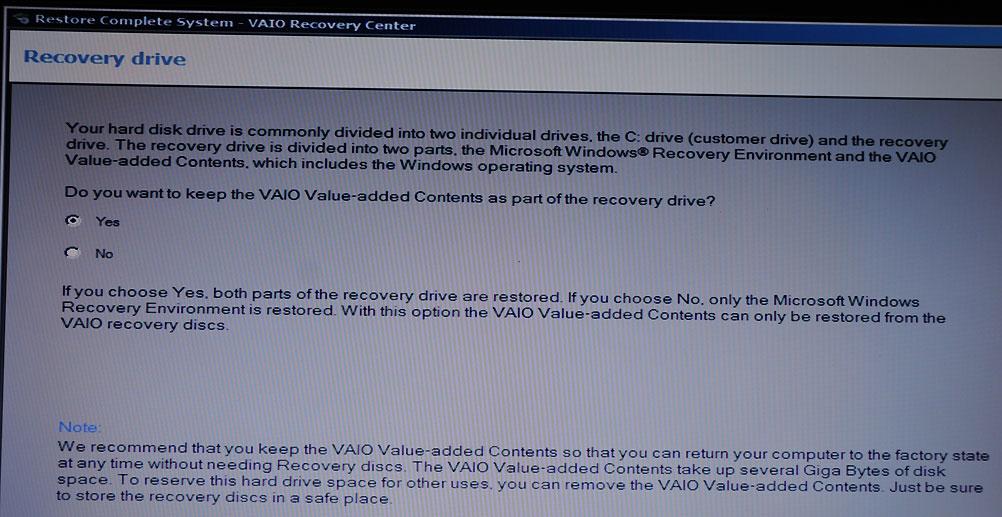 vaio recovery center download windows 7 64 bit